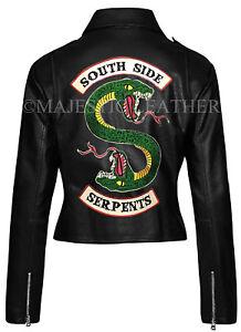 Veste Southside Jones Femmes Jughead Serpents Motard Riverdale aqw0Xw