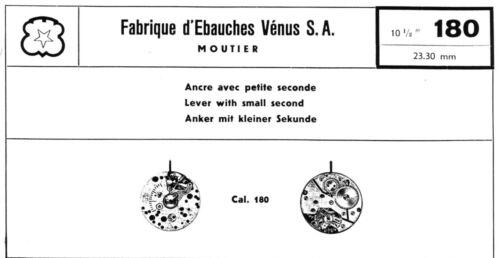 Details about  /NOS 1 PC Venus 180 Original Parts Vintage Chronograph New Chrono OEM 3WC