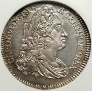 1740-AUSTRIA-Holy-Roman-Empire-CHARLES-Karl-VI-Silver-1-4-TALER-Coin-NGC-i84782