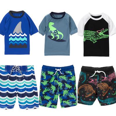 Gymboree Swim Suit Shop 6-12-18-24 2T 3T 4T 5T 4 5 6 7 8 10 Rash Guard Sets Red