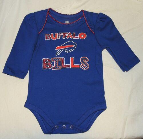 NEW Baby Girl Buffalo Bills One Piece 3 thru 18 M NFL Football Long Sleeve Blue