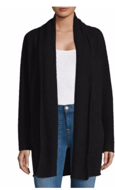 5374ebf186 Buy Vince Open Front Black Cashmere Cardigan L online