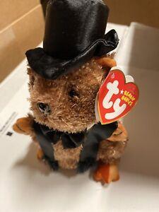 Ty Beanie Baby ~ PUNXSUTAWNEY PHIL 2007 the Groundhog NWT