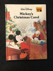 Mickeys Christmas Carol Book.Details About Disney Classic Series Walt Disney S Mickey S Christmas Carol Twin Books 1988