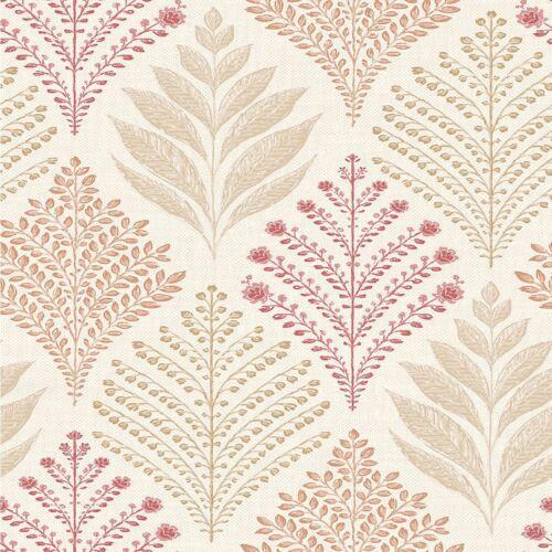 Rowan Red Glitter Trees Wallpaper Orange Feature Washable Luxury Grandeco Vinyl