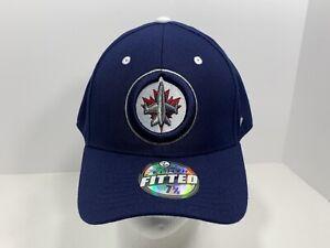 Winnipeg-Jets-NHL-Original-Zephyr-7-5-8-Fitted-Cap-Blue-NEW