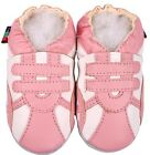 shoeszoo sports pink white 6-12m S soft sole leather baby shoes