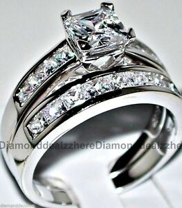 41d9a314f Image is loading 925-Sterling-Silver-Princess-cut-Diamond-Engagement-Ring-