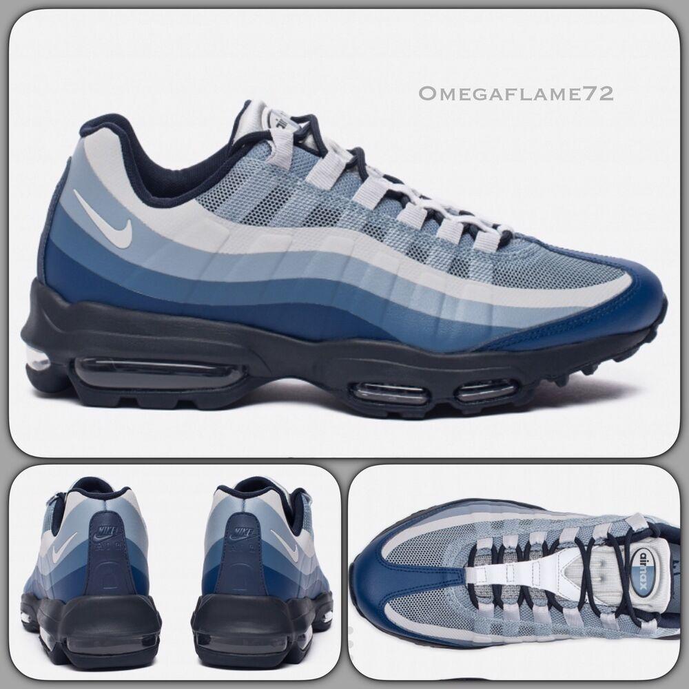 Nike Air Max 95 Ultra se 857910-400 Coastal Bleu Sz U.K. 10, UE 45, USA 11-
