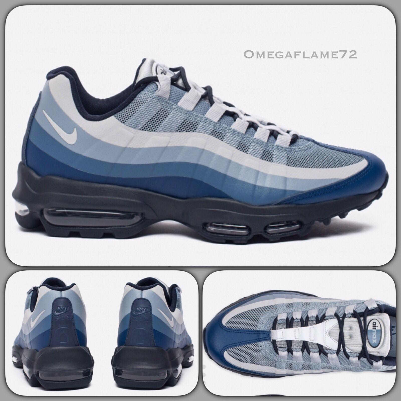 Nike Air Max 95 Ultra SE 857910-400 Coastal Blau Sz U.K. 10, EU 45, USA 11