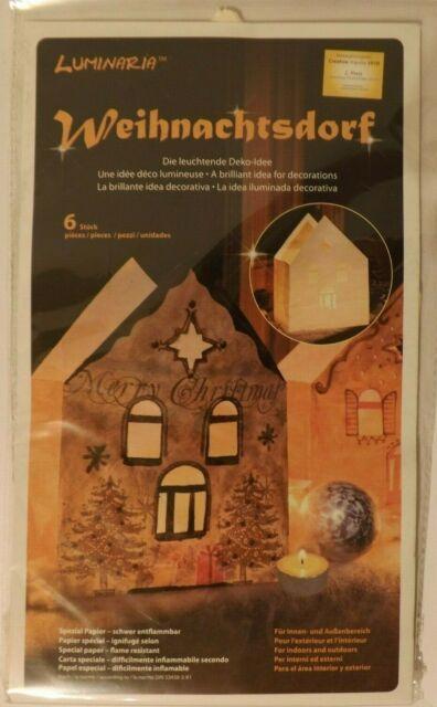6 x Lichtertüten Weihnachtsdorf von Luminaria zum selber ...
