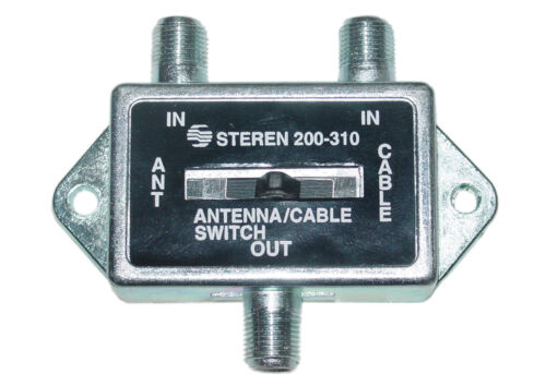 Cable Wholesale F-pin Coaxial Slide Switch 2 Way 75//75//75 Ohm