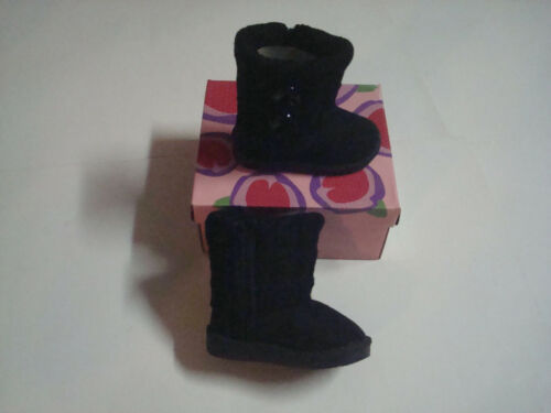 NEW WARM BABY GIRL TODDLER INFANT WINTER BOOTS SHOES WITH ZIPPER SIDE 3 COLORS