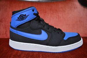 16fd401e2ff5a8 Nike Air Jordan I Retro 1 KO HIGH OG AJKO BLACK SPORT ROYAL BLUE ...