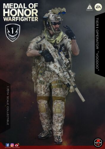 Soldier Story 1//6 Medalha de Honra Navy Seal Tier One operador Voodoo Brinquedo Em Estoque
