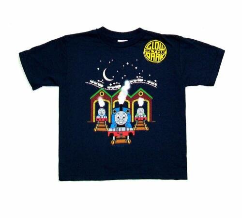 Authentic THOMAS THE TANK ENGINE Thomas At Station Youth T-Shirt Navy 2T-7 NEW
