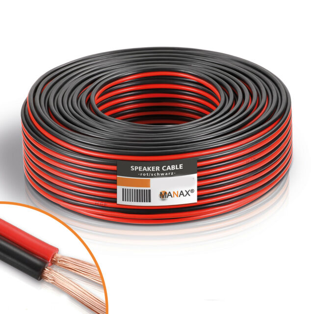 10m Hella KFZ-Kabel FLYY Fahrzeugleitung 2x 1,5mm² schwarz grau Kupfer 2-adrig
