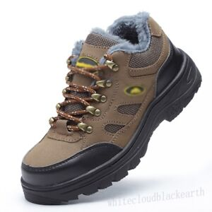 Womens-Steel-Toe-Shoes-Fur-Lined-Anti-Puncture-Work-Safety-Winter-Warm-Boots-New
