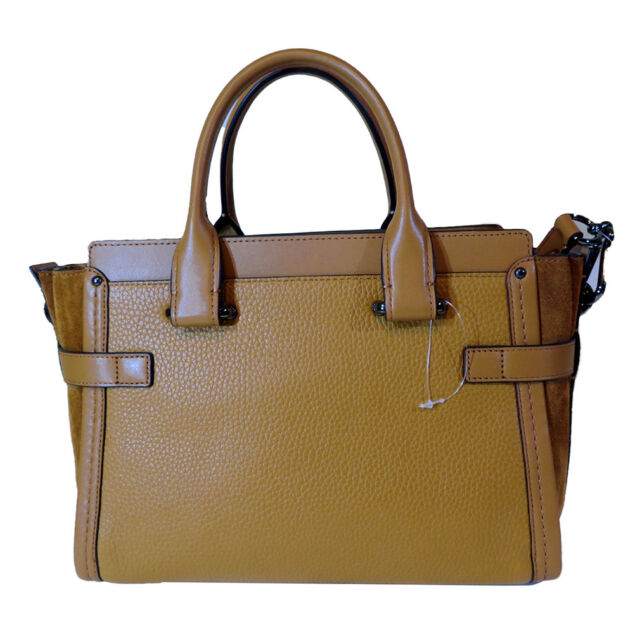 d980985f8e89 Coach 59505 Mixed Leather Light Saddle Swagger 27 Satchel for sale online