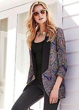 Kaleidoscope Paisley Print Jacket Size 12 BNWT RRP £49 Multi Uk Freepost