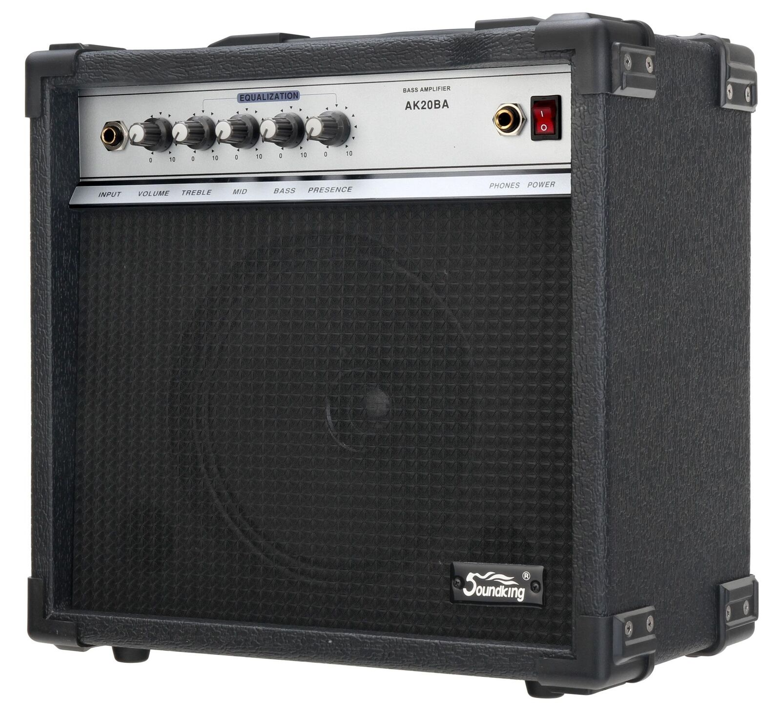 SOUNDKING 20W E-BASS VERSTÄRKER BASS COMBO AMPLIFIER AMP 8  LAUTSPRECHER EQ NEU