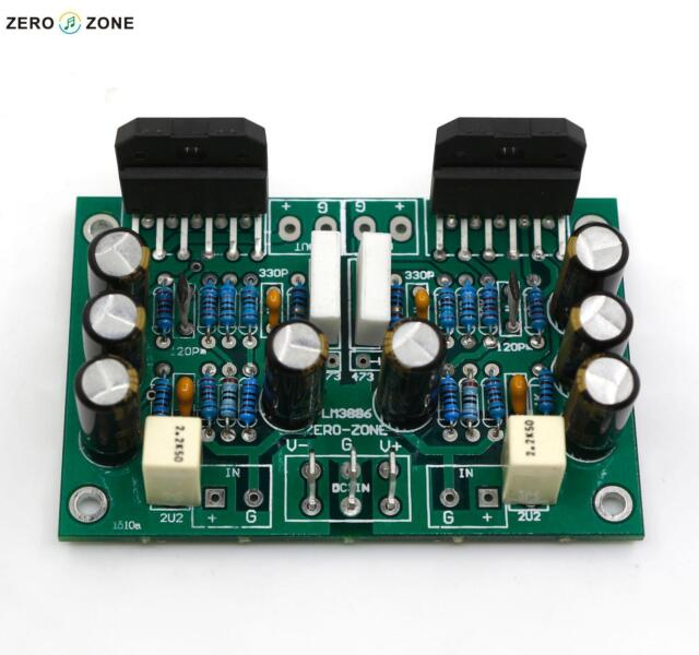Zerozone Lm3886 Stereo Amplifier Kit Pure Dynamic Feedback Circuit