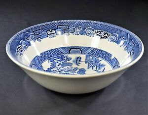 Johnson-Brothers-Willow-Blue-Made-in-England-Coupe-Cereal-Bowl