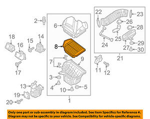 Outstanding Details About Hyundai Oem 14 15 Genesis Engine Air Filter Element 28113B1000 Wiring Database Wedabyuccorg