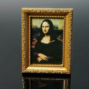 1-12-Puppenhaus-Miniatur-Malerei-19th-Century-Mona-Foto-Lisa-D6M2-Neu-Bild-N8X0