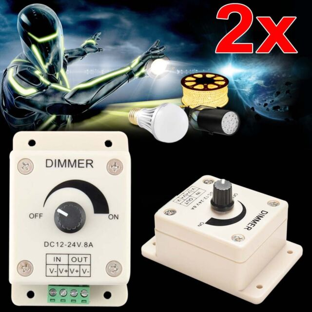 2 x 12V-24V LED Strip Light Bulb PWM Dimming Brightness Adjustable Controller GA