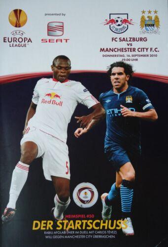 Manchester City Programm UEFA EL 2010//11 FC Salzburg