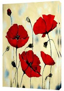 Diligent Rouge Tulipes Photo Impression Photo Sur Bois Encadrée Toile Mural Art Maison Décoration-afficher Le Titre D'origine ExtrêMement Efficace Pour Conserver La Chaleur
