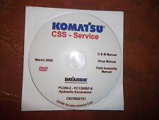 KOMATSU PC300-2 THRU PC1250SP-8 EXCAVATORS SERVICE SHOP REPAIR MANUAL CD