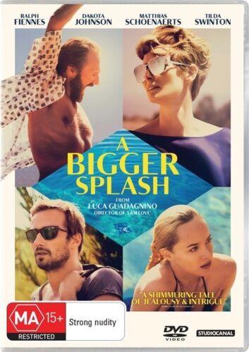 1 of 1 - A Bigger Splash (DVD, 2016) R Fiennes D Johnson M Shoenaerts T Swinton R4 DVD.