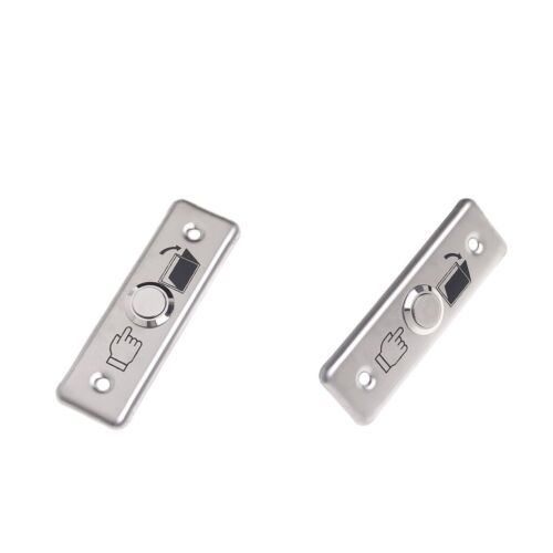 2 x Exit Push Button Stainless Steel Release Door Access Control Switch