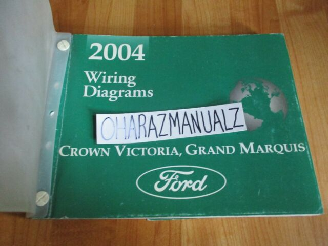 2004 Ford Crown Victoria Mercury Grand Marquis Wiring