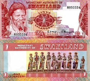 SWAZILAND 1 Emalangeni Banknote World Paper Money UNC Currency Pick p1 1974 King