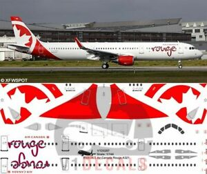 V1 Decals Airbus A321 Air Canada Rouge for 1/144 Revell Model Airplane Kit