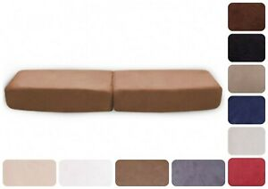 Coppia-Copricuscini-divano-poltrona-Tessuto-Scamosciato-Diamond-effetto-pesca