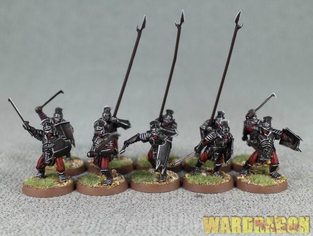 25 mm el señor de anillos Wds Pintado Uruk-hai Warriors p48