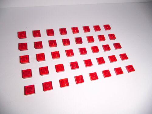 3024 in transparent rot aus 10182 7649 5765 7781 40 Platten 1x1 Lego