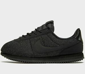 best cheap release info on promo code Details about Nike Cortez Basic Textile SE Women ® (UK Sizes: 3.5 / 4 / 5 /  5.5) Triple Black