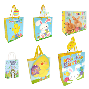 Wrapping Ribbon Gift Tag Present Eggs PaulStore Chicks Bunnies Gift Bag Easter Medium Chicks, Large