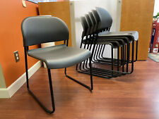 Hon Gueststacker 4031 Armless Guest Chair Polymer Charcoal Seat Back Steel