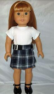 Blue Knit Skirt Fits 18 inch American Girl Dolls