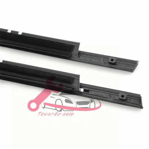 4X Chrome Weatherstrip Window Moulding Trim Seal Belt For Honda Accord 2008-2012