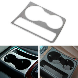 Chrom-Interior-Wasser-becher-halter-platte-Dekoration-Ordnung-fuer-Audi-A4-B8-A5