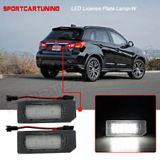 2x White Led License Plate Light Lamp For 2011 19 Mitsubishi Asx Outlander Sport