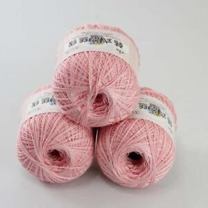 3ballsx50g-Hand-DIY-Knitwear-Cotton-Lace-Crochet-Shawl-Scarf-Knitting-Yarn-18