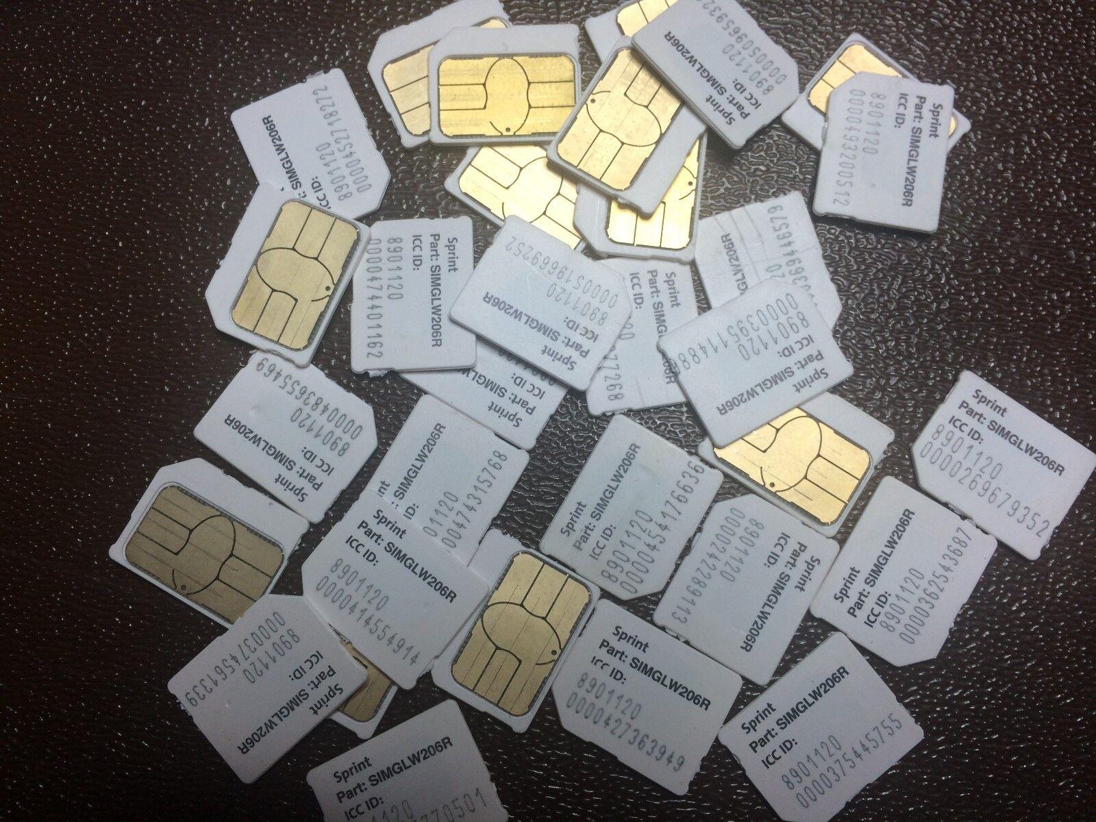 Sprint Micro SIM Card for Samsung Galaxy Boost Virgin SIMGLW206R
